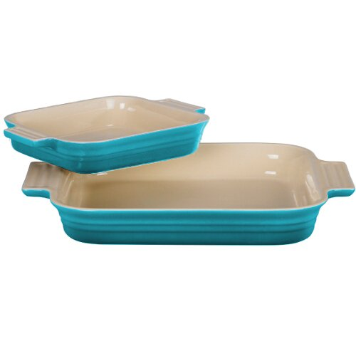 Le Creuset Stoneware 1-1/4-Quart Rectangular Baker with