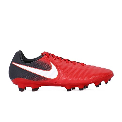 Nike Tiempo Legacy III FG Mens Football Boots 897748 Soccer Cleats (UK 7.5 US 8.5 EU 42, University red White Black 616)