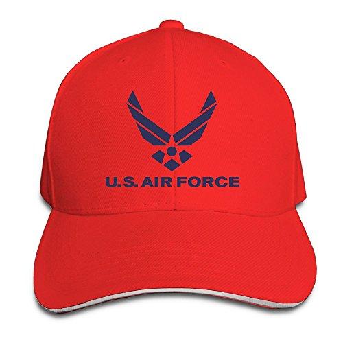 GENZHESI Air Force Logo Adjustable Baseball Hat Dad Hats Trucker Hat Sandwich Visor Cap