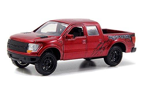 New 1:32 DISPLAY JUST TRUCKS - RED 2011 FORD F-150 SVT RAPTO PICKUP TRUCK Diecast Model Car By Jada Toys