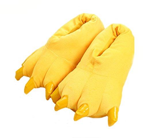 Yellow Shoes Cartoon Soft Warm Slippers Neutral Plush Claw Home Animal LqSpzGVMU