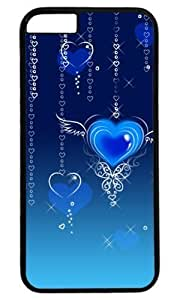 Abstract Blue Heart Fly DIY Hard Shell Black Designed For iphone 6 plus Case