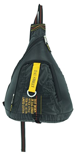 Bag Street Bodybag, Farbe schwarz, Rucksack, mit Reißverschluss und Tragegurt, Damen und Herren Kinder Tasche Freizeittasche Sporttasche Fa. Bowatex