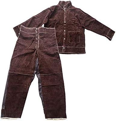 Milageto Chaqueta De Soldadura Protectora Pantalones De Soldadura Paño De Soldador Resistente Al Fuego Lx2: Amazon.es: Hogar