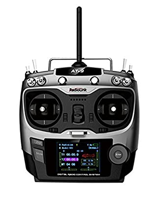 BW® Radiolink AT9 2.4GHz 9 Channel Transmitter and Receiver Radio System for FPV RC Aircraft Helicopter (Model 2)