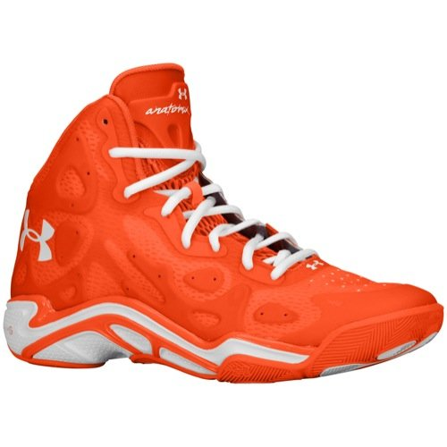 Under Armour Mens UA Micro G Anatomix Spawn 2 Basketball Shoe Team Orange/Team Orange/White (16 D(M) US)