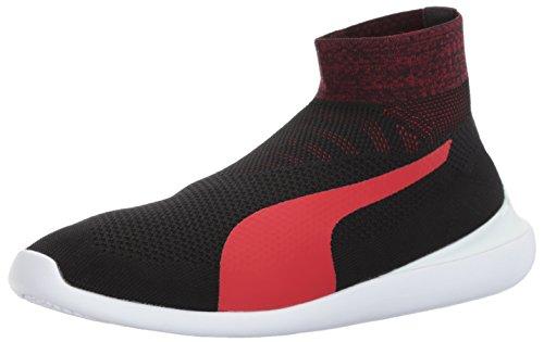 Puma Heren Sf Evo Kat Sok Sneaker Puma Zwart-rosso Corsa-puma Wit