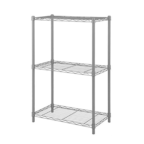 Mulsh 3 Shelf Wire Shelving Rack Metal Shelf Free Standing Storage