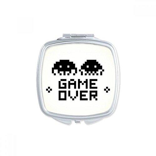 Game Over Little Monster Pixel Square Compact Makeup Pocket