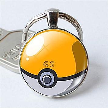 DADATU Llavero Pikachu Pokemon Pokeball Plata Plateado ...