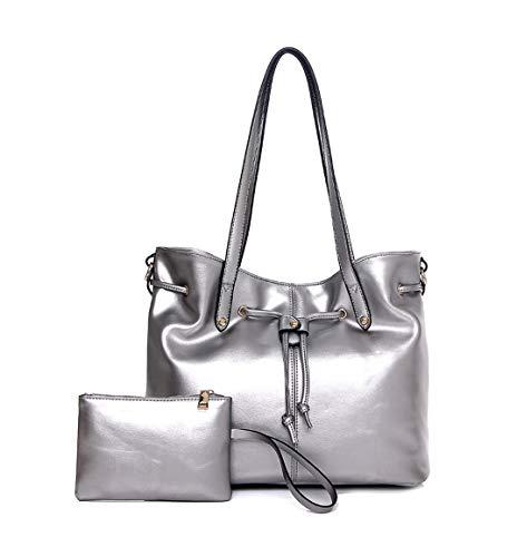 bandolera de Mujer hombro Carteras Shoppers DEERWORD mano bolsos clutches Plateado Bolsos y y de x0qHTxwnf