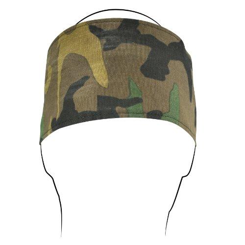 Headbands Woodland Camo - ZANheadgear Cotton Headband with Velcro Closure (Woodland Camo, One Size)