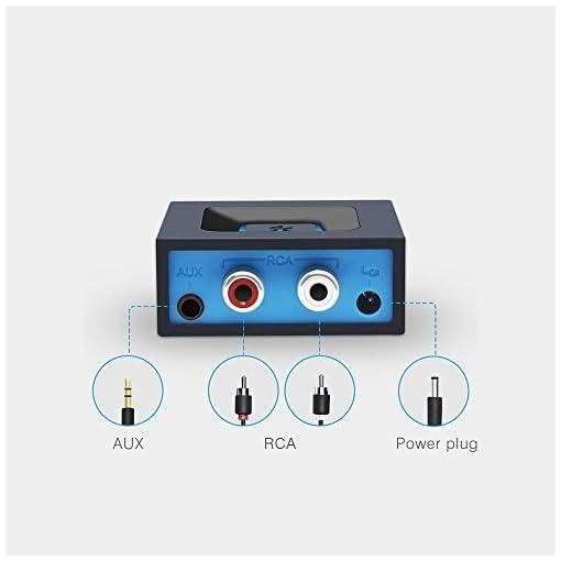 Adattore d' audio di BLUETOOTH per Sistema di Suono di Trasmissione di Musica, Adattore d' audio con WIFI d' Esinkin puo' lavorare con cellulari e Tablets intelligenti, Ricevitore di BLUETOOTH per Altoparlante