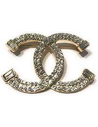 8b50e6e9b95 New Fashion womens C.C. diamond rhinestone Brooch Brooches pin Gift Silver