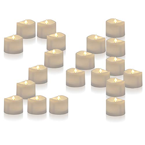 Homemory Battery Operated LED Tea Lights, Pack of 24, Flameless Votive Tealights with Warm White Flickering Bulb Light, Small Electric Fake Tea Candle Realistic for Wedding, Table, Gift, Outdoor reviews