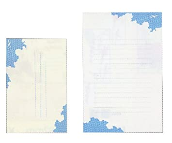 Blue Sky Frontia Writing Stationery Paper Letter 20 Sheets and 10 pcs Envelopes 5.1x7.9 Japan Import