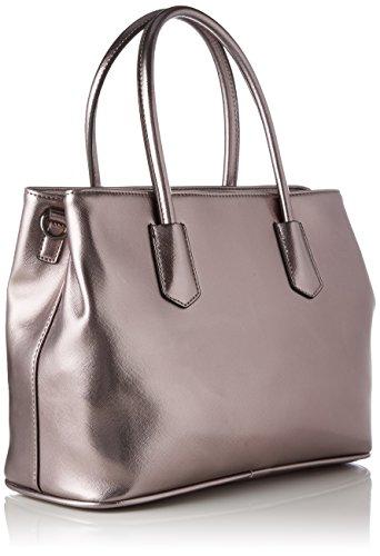 L.Credi Yvonne - Shoppers y bolsos de hombro Mujer Gris (Gun)