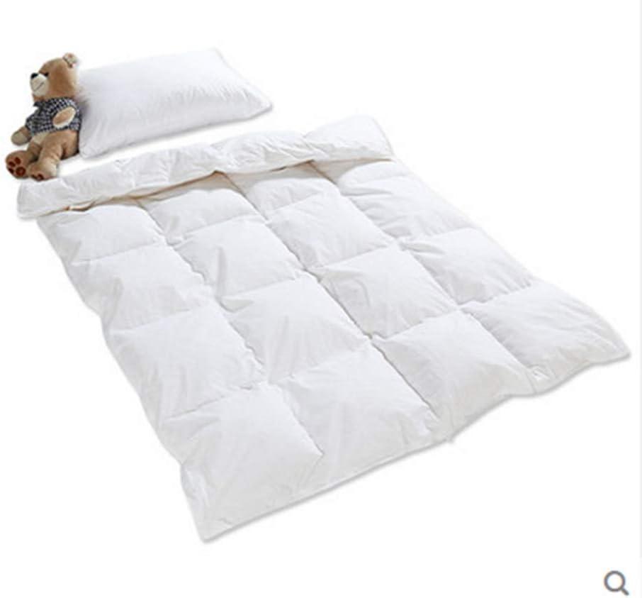 Lightweight All Season Baby/Toddler White Goose Down Comforter Duvet Insert for Crib Bedding 100% Cotton Shell Hypoallergenic Down Proof (White, S(33X43in))