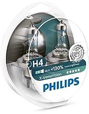 Lâmpada Farol H4 12V 60/55W - Philips 12342XVS2