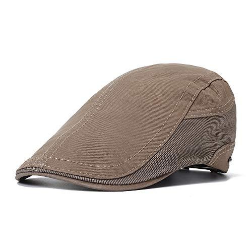 ACHKL Mens Outdoor Summer Patchwork Breathable Beret Hat Solid Newsboy Cabbie Flat Caps Visor ACHKL (Color : Color Navy, Size : One size)