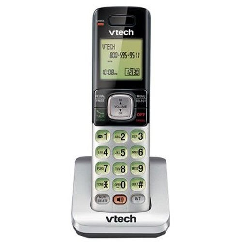 VTech CS6709 DECT 6.0 Phone with Caller ID/Call Waiting, 1 Cordless Accessory Handset, Silver (Renewed)