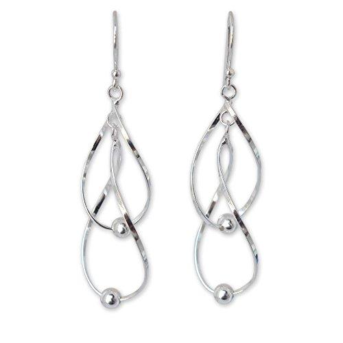 NOVICA .925 Sterling Silver Dangle Earrings, Fabulous Infinity Swirl'