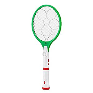 Sosoon Electric Bug Zapper Rechargeable Handheld Fly Swatter, Insect Killer, Mosquito Zapper Racket with Detachable Flash Light for Indoor and Outdoor Pest Control (Green)