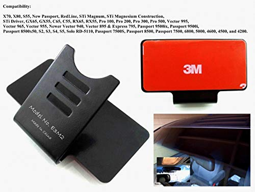 E3M2 Improved 3M Taped Permanent Windshield Mount Bracket for Beltronics Bel Escort Radar Detectors