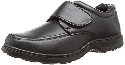 NEU Herren / Herren Klettverschluss Bequeme Passform Schuhe weite Passform schwarz - UK Größen 6-12