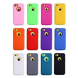 SOL Heavy Duty Impact Case Cover for Apple iPhone 5C (Assorted Colors) , Gray