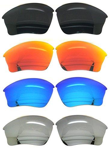 4 Polarized Replacement Lenses for Oakley Half Jacket XLJ Sunglasses - Xlj Half Polarized Jacket Oakley Lenses