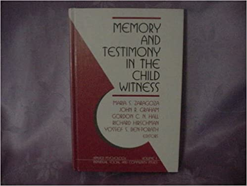 Amazon.com: Memory and Testimony in the Child Witness ...