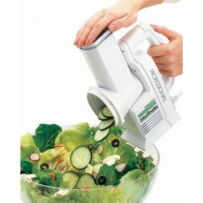 Presto Professional SaladShooter Electric Food Slicer - 114 W - White
