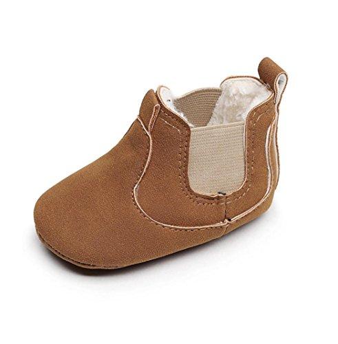 Huhu833 Kleinkind Neugeborenes Baby Jungen Mädchen Krippe Winter Stiefel Prewalker Warme Martin Schuhe Braun