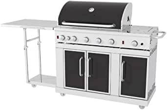 Amazon.com: Master Forge 5-Burner Stainless Steel LP Gas ...