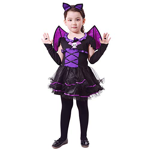 DUOLAIMENG Witch/Vampire/Spirit Halloween Costume Girls/Boys Halloween Clothes Kids Costume Dress (XL, -