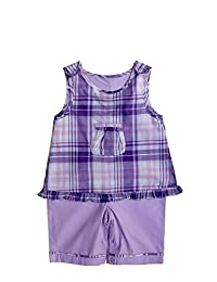 """Joined At The Hip Babywear """"Kaia"""" style - Girl's one-piece romper with snaps in crotch"""