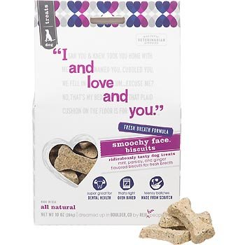 I and Love and You Smoochy Face Biscuits for Dogs Mint, Parsley and Ginger -- 10 oz