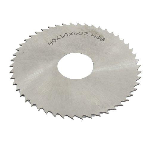 uxcell Hand Tool 80mm x 22mm x 1mm 50 Peg Teeth HSS Slitting Saw