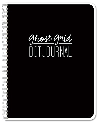 "BookFactory Ghost Grid Dot Journal / Bullet Notebook 120 pages 8.5"" x 11"" Wire-O (JOU-120-7CW-A(DotJournalPF))"