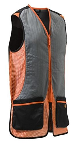 Beretta Men's New Fit Silver Pigeon Shooting Vest, Black/Orange, Large by Beretta