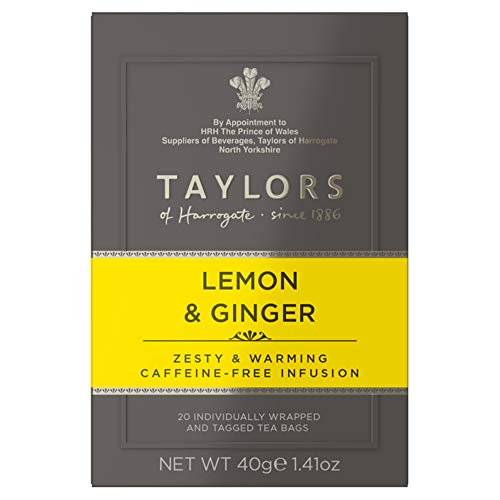 (Taylors of Harrogate Lemon & Ginger Herbal Tea, 20 Teabags (Pack of 6) )