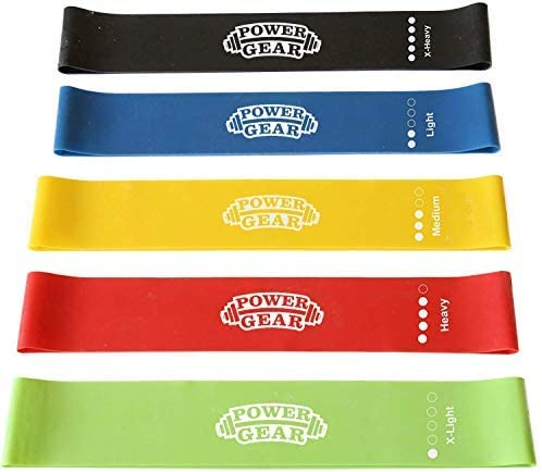 Power Gear Resistance Loop Exercise Bands Set of 5