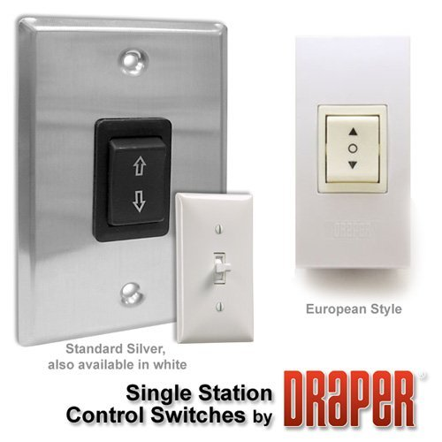 Draper 121001 Single Station Control SS-1R Projection Screen Key Switch (Black/Stainless Steel) ()
