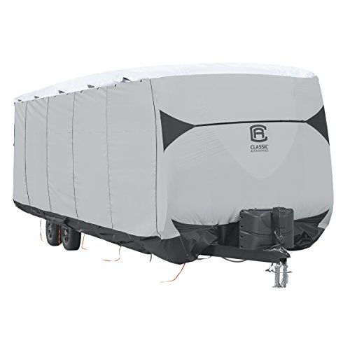 Classic Accessories 80-391-102201-EX SkyShield Heavy-Duty RV Travel Trailer Cover, for 38-40' L, 124