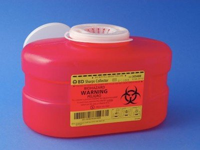 (B-D Multi-Use One-Piece Sharps Containers - Regular Funnel Vented Cap, 3.3 Quart )