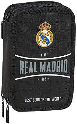 safta 412024057 Plumier Triple Estuche con 41 Piezas Real Madrid CF, Negro: Amazon.es: Equipaje