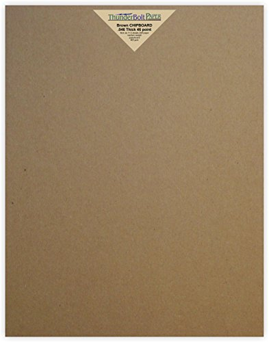 25 Sheets Chipboard 46pt (point) 11 X 14 Inches Heavy Weight Scrapbook|Frame Size .046 Caliper Thick Cardboard Craft|Ship Brown Kraft Paper (Thick Chipboard)