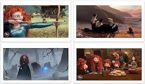 - Disney Pixar BRAVE set of 4 Lithograph Prints in Folder - Disney Store Exclusive