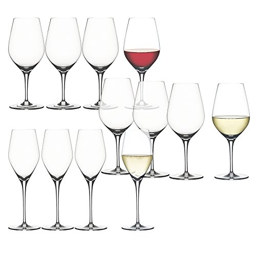 Spiegelau 4400192 12 Piece Authentic BUY8GET12 Wine Glasses, Clear ()